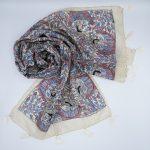 silk scarf madhubani art